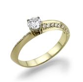 טבעת יהלום 0.3 עם משקל זהב 3 גרם