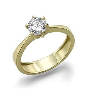 תמונה של טבעת יהלום 0.3 עם משקל זהב 3.6 גרם