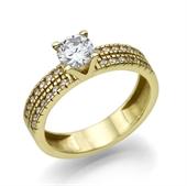 תמונה של טבעת יהלום 0.3 קראט