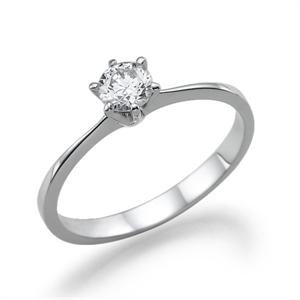 תמונה של טבעת יהלום 0.3 קראט עם יהלומים צדדיים במשקל 0.1 קראט
