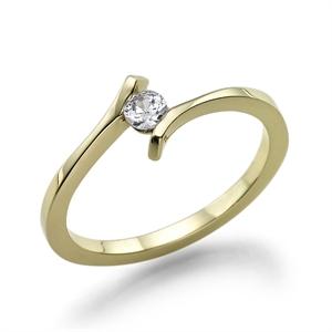 תמונה של טבעת יהלום 0.5 קראט עם יהלומים צדדיים 0.42 קראט