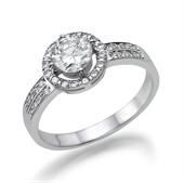תמונה של טבעת יהלום 0.5 קראט עם יהלומים צדדיים 0.32 קראט