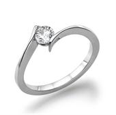 טבעת יהלום 0.4 קראט עם יהלומים צדדיים 0.30 קראט